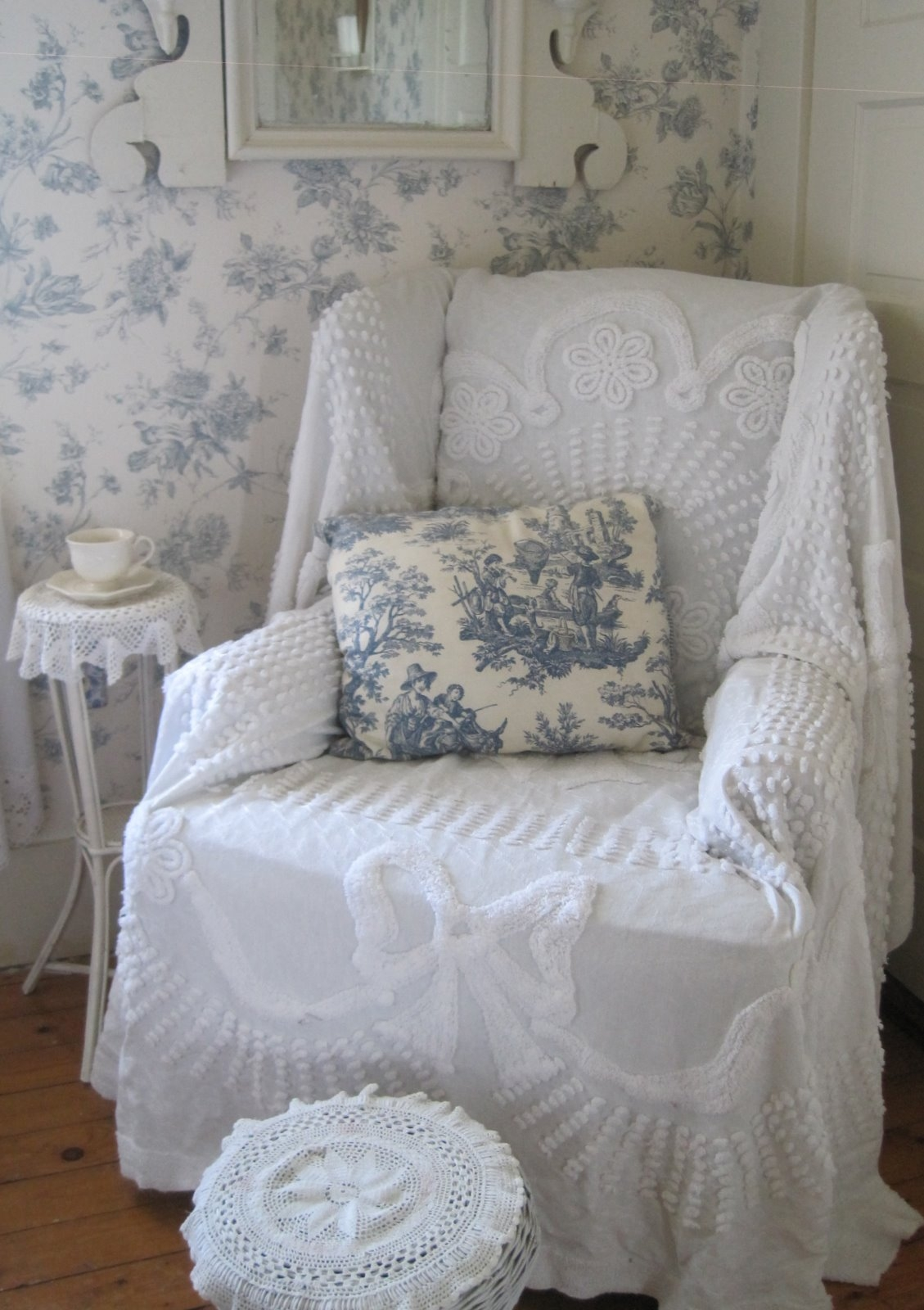 Shabby Chic Dining Chair Covers