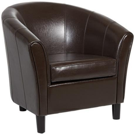 Beau Small Leather Tub Chair