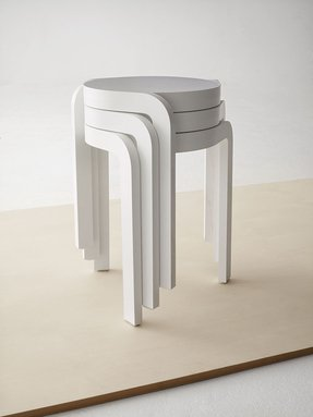 Stackable stools wood