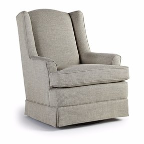 Upholstered Swivel Living Room Chairs - Foter