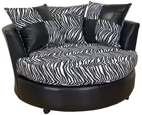 Swivel chair w loose pillows choice of colors available