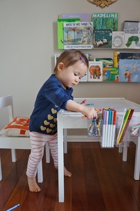 Toddler art table and chairs