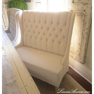 Tufted banquette bench