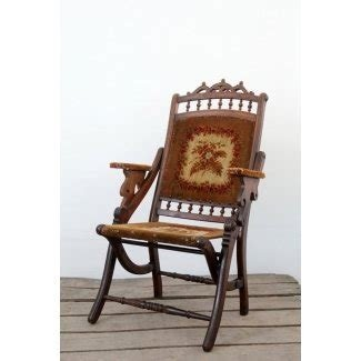 Victorian folding chair antique tapestry