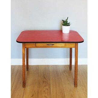 Vintage 1950s 1960s Red Formica Top