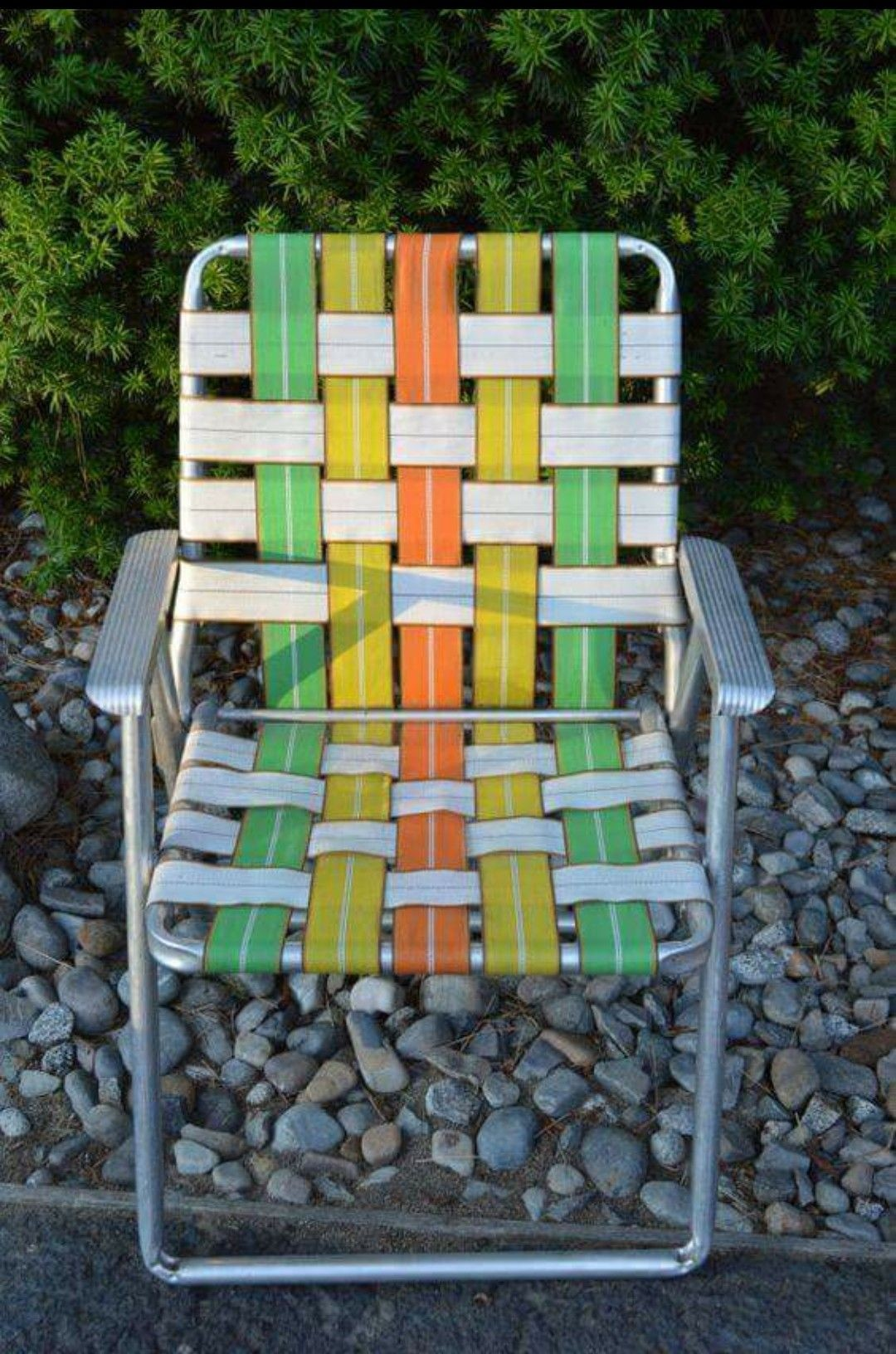 Our Choice Best Products. Vintage Webbed Lawn Chair Aluminum