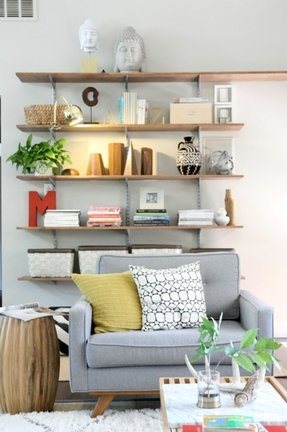 Living room wall shelves foter - Shelves design for living room ...
