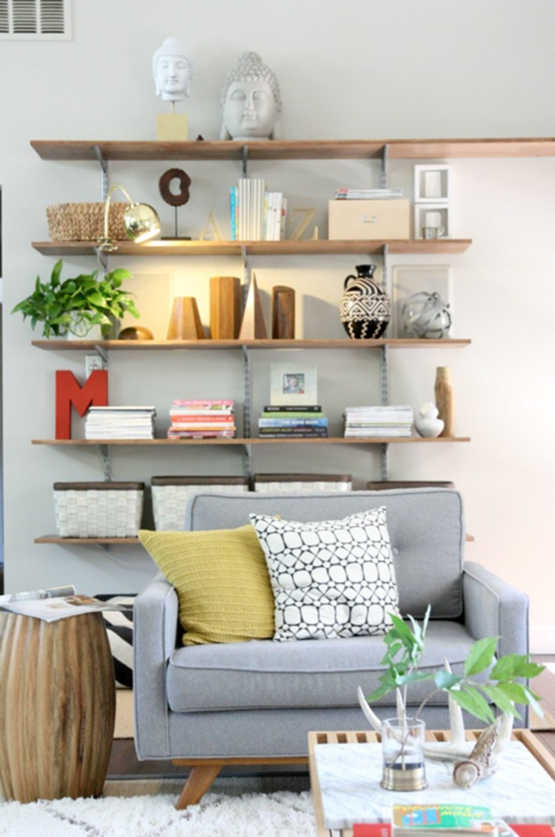 Superbe Living Room Wall Shelves   Ideas On Foter