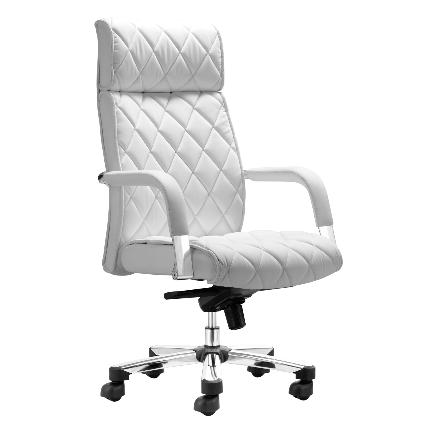 White desk chair target  sc 1 st  Foter & White Leather Desk Chairs - Foter