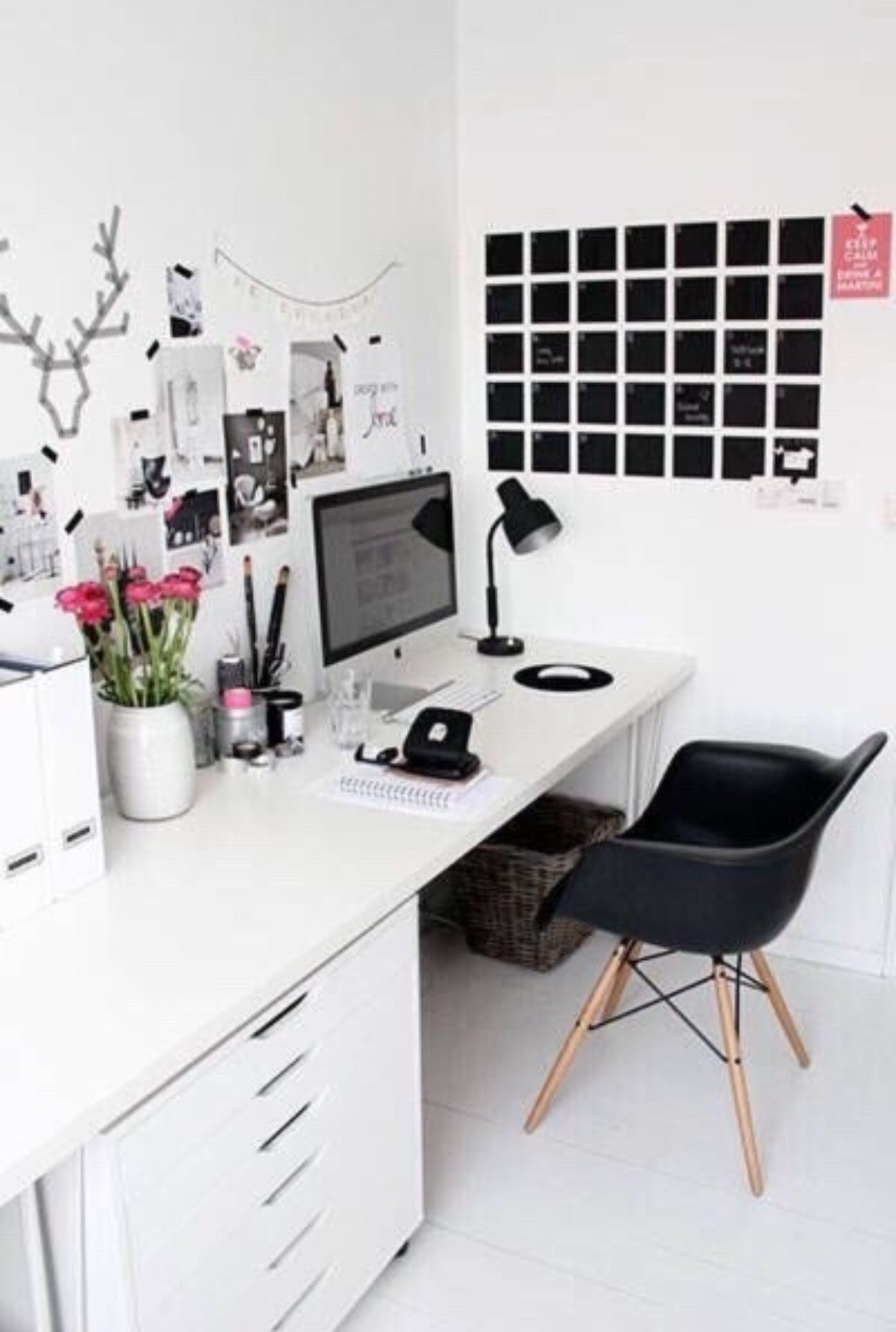 Beautiful White Home Office Desks 3