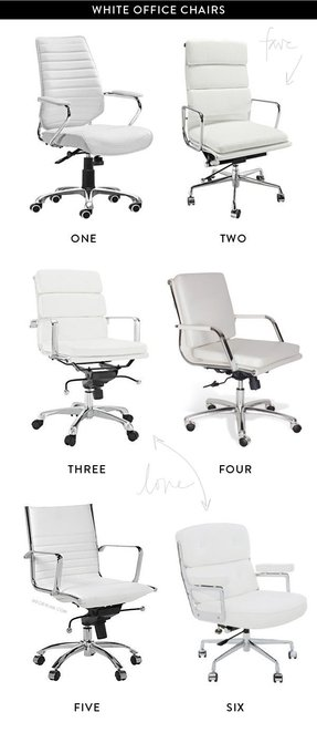 White office chairs 1