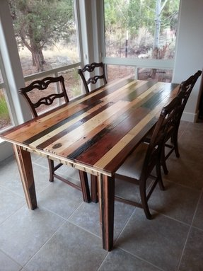 Wood dining chairs 5
