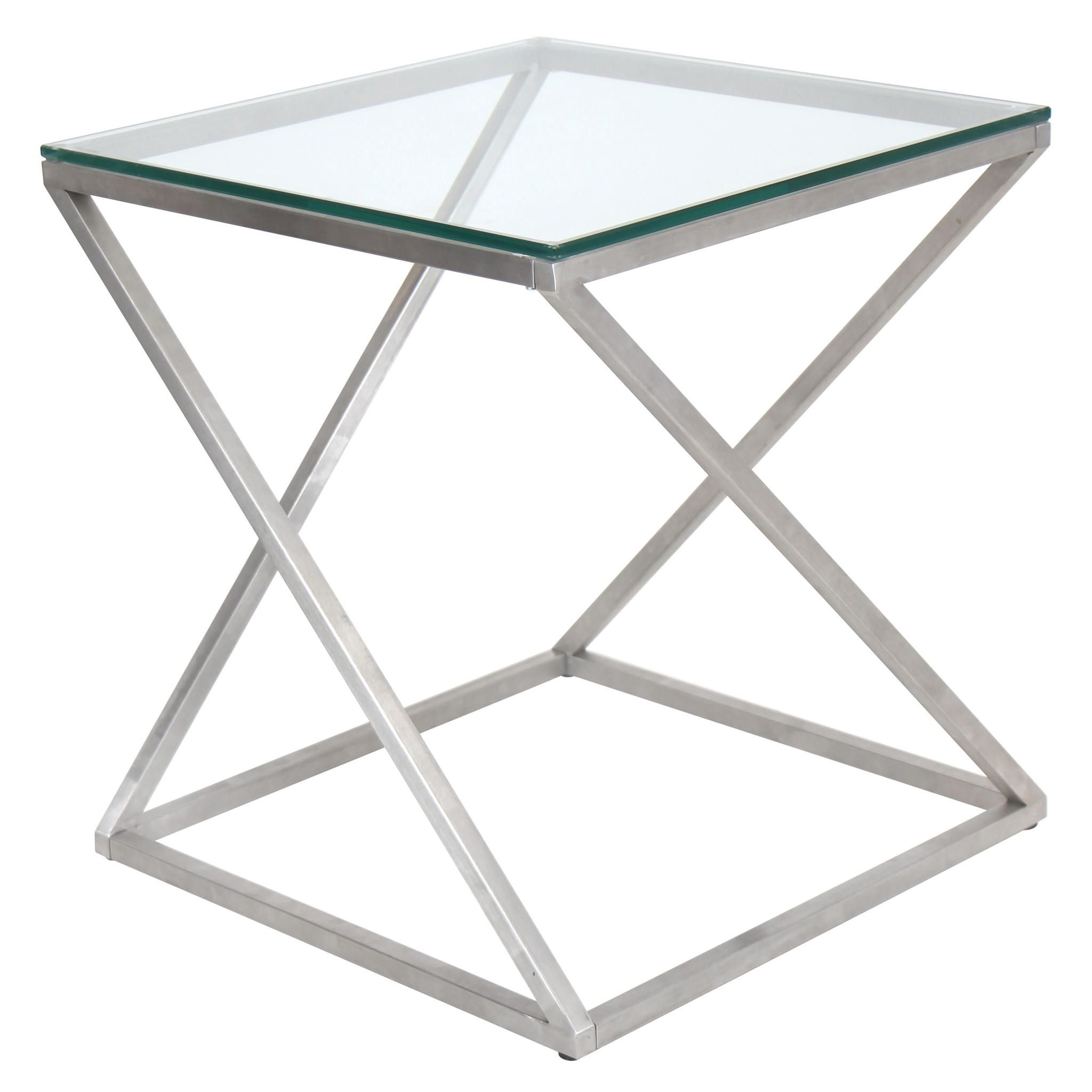 Merveilleux 4z Stainless Steel Modern End Table 1