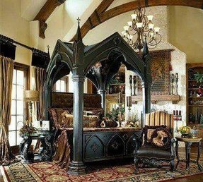 Baroque bed frame