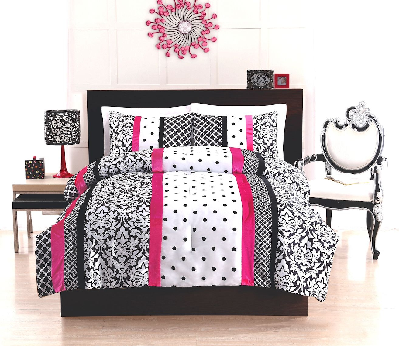 Black And White Polka Dot Bedding