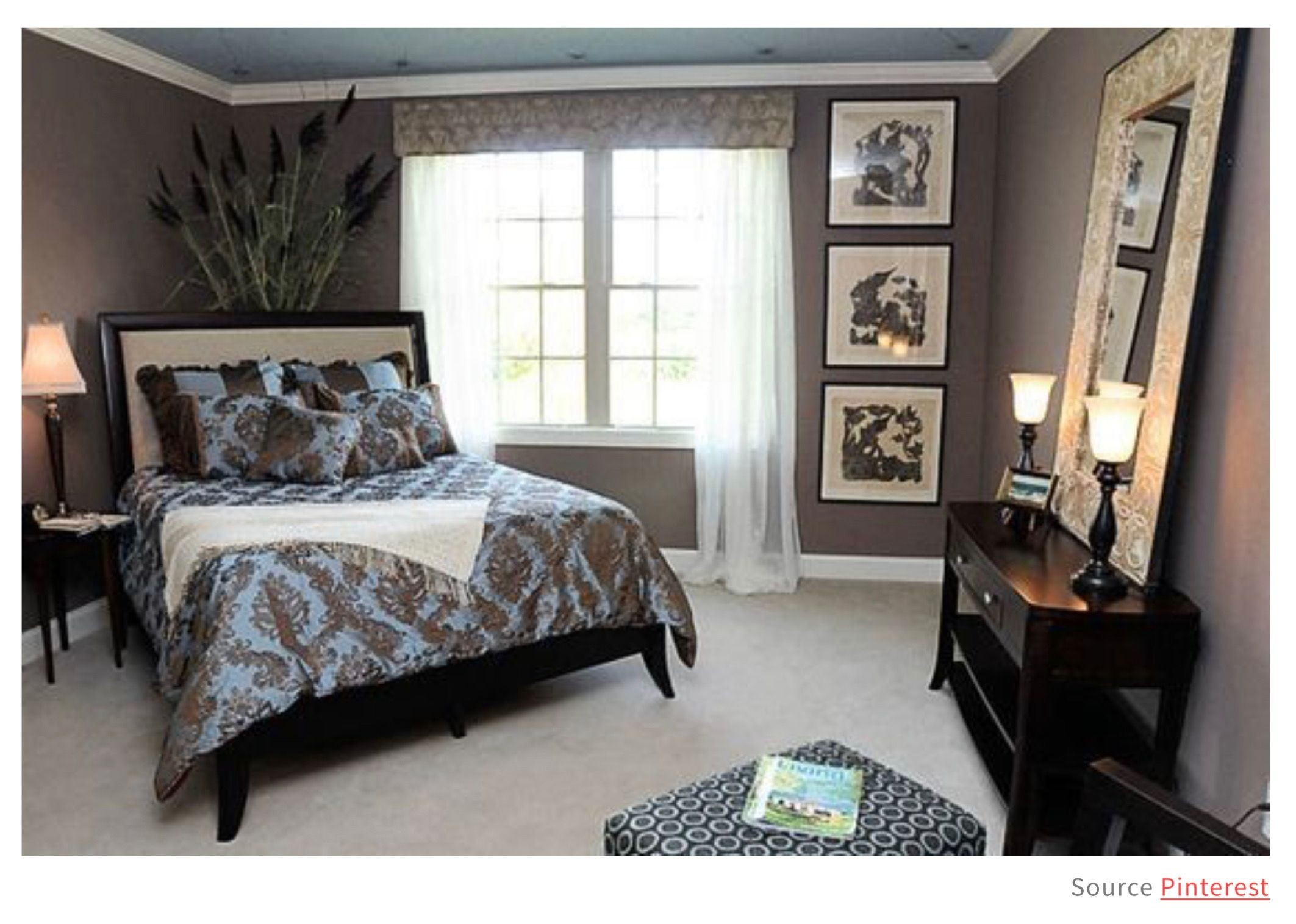 Merveilleux Brown And Grey Bedroom