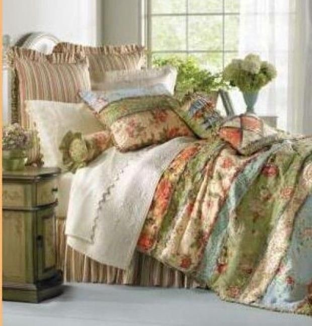 Genial Brown Toile Quilt. This Charming French Country Bedding ...