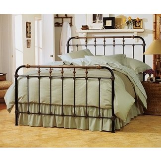 Cast iron bed queen