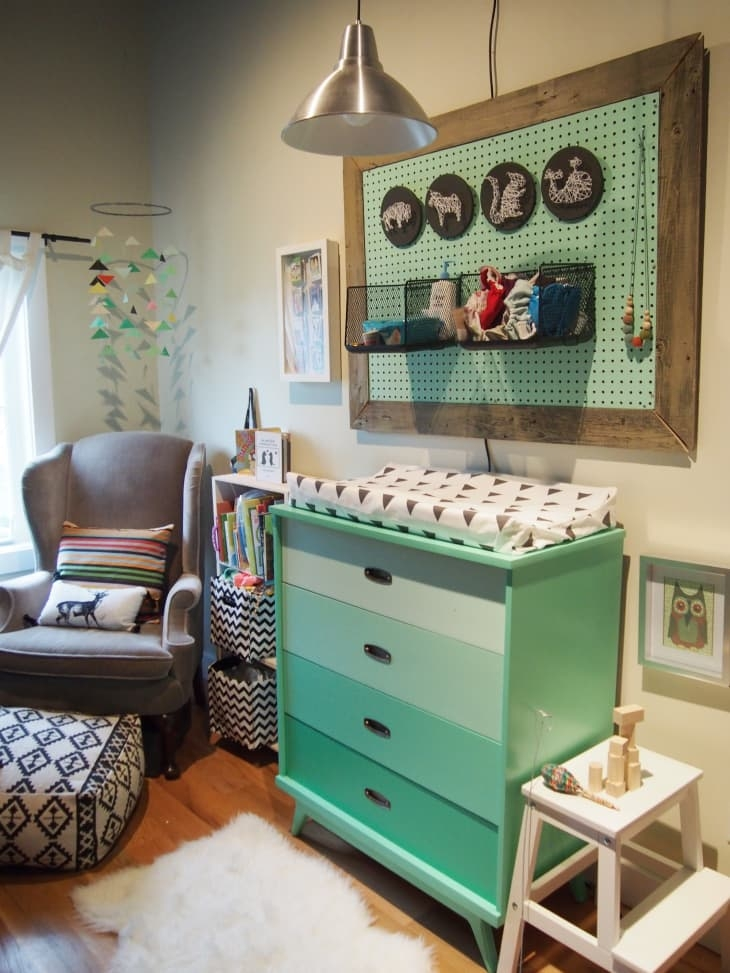 Corner Changing Table With Drawers