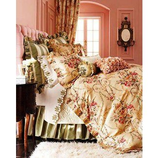 Cosette bed linens rochelle fitted sheet king traditional sheet sets