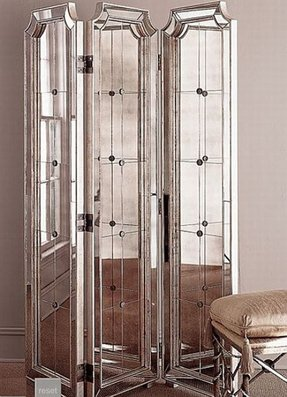 Mirrored Room Divider Screen Foter
