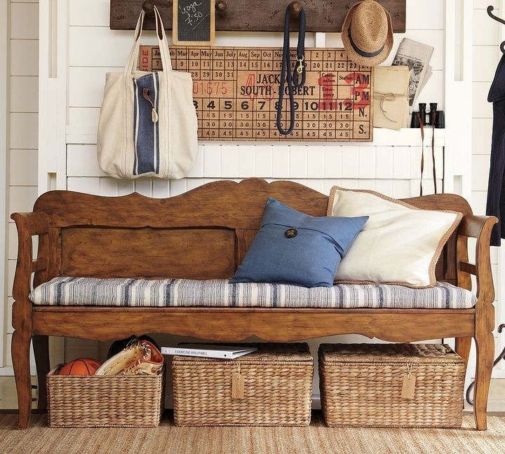 Darby long entryway bench