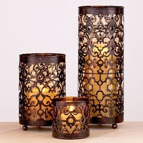 Decorative hurricane candle holders