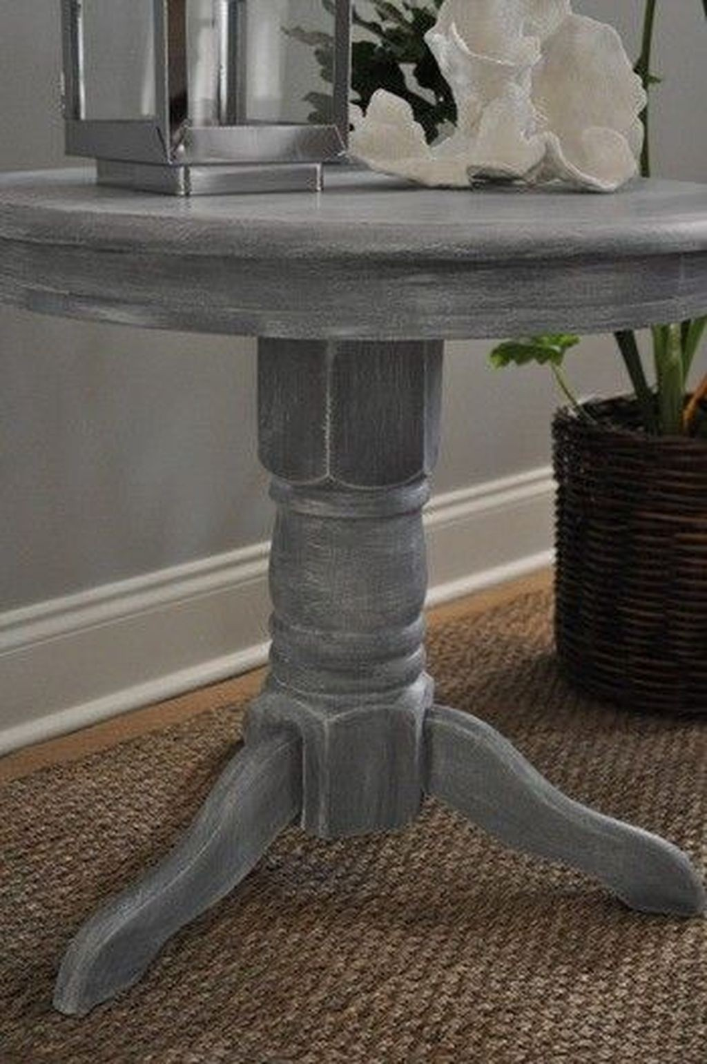 Distressed Pedestal Dining Table