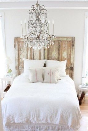 Distressed White Bed - Foter