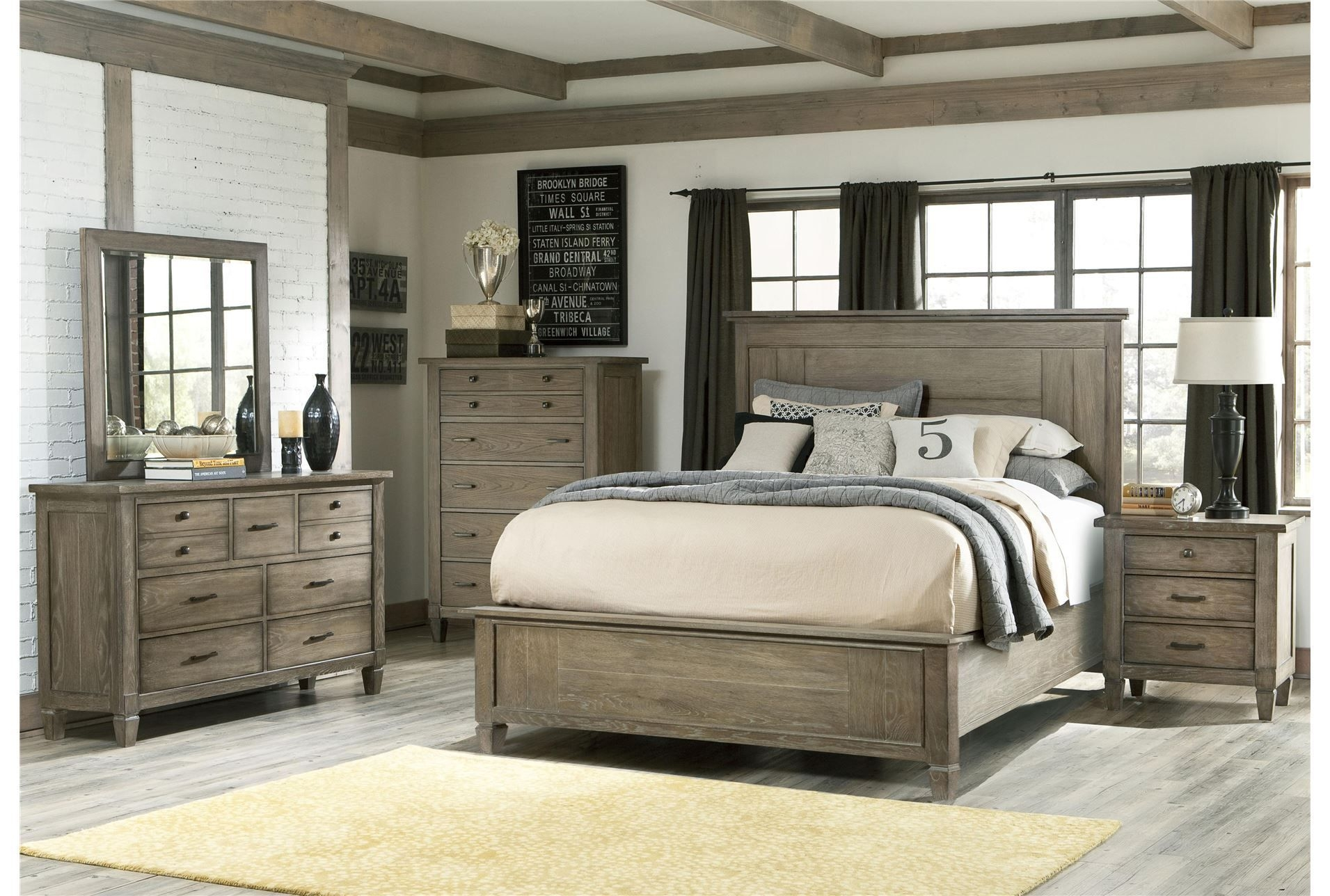 Attirant Distressed Wood Bedroom Sets