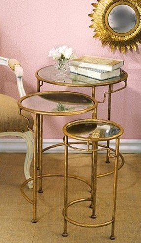 Diy gold coffee table