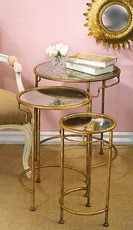 Diy gold coffee table & Glass Nesting Tables Set Of 3 - Foter