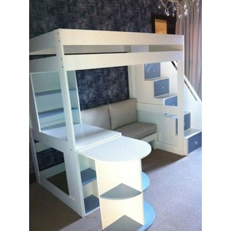 Double Loft Bed With Desk