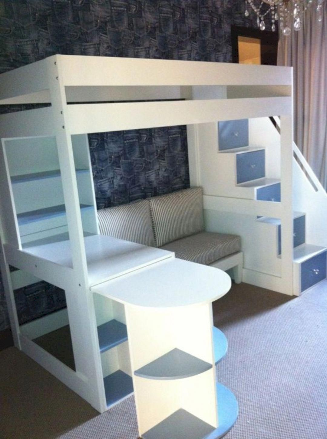 Amazing Double Loft Bed With Desk
