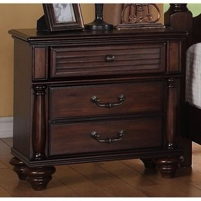 Duval 2 drawer distressed mahogany nightstand 1