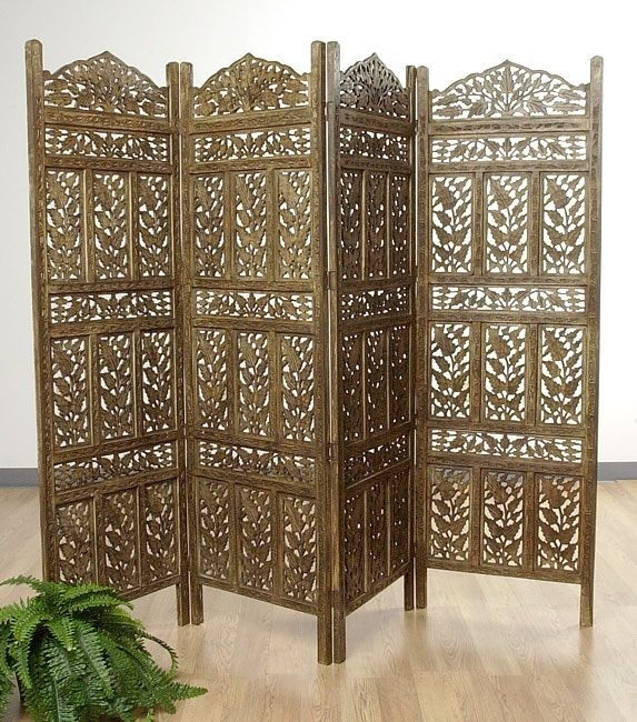 Flower jali 4 panel screen india