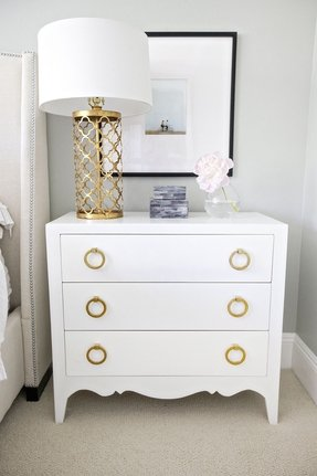 Gold nightstand