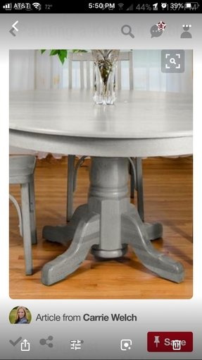 Gray wash dining table