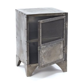 steel nightstands - foter Metal Nightstand