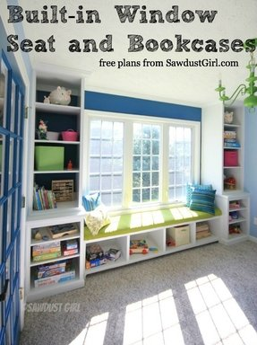 Kids Shelving Storage This Built In Window Seat And Bookcase