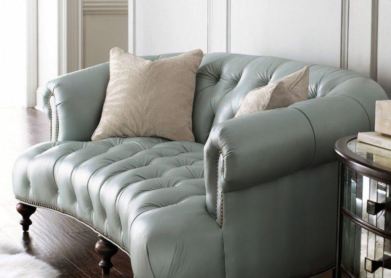 Leather Nailhead Sofa