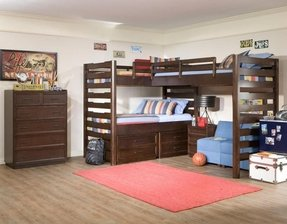 Legacy classic furniture solutions l shaped loft bed with lower