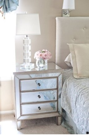 Mirrored bedside table 1
