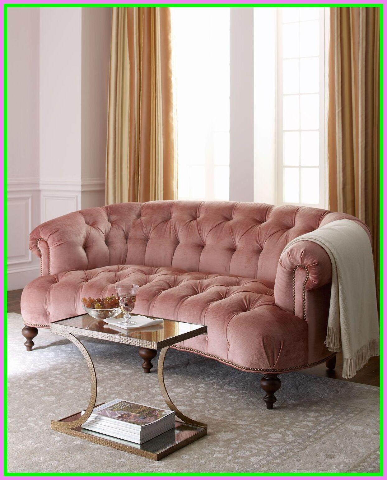 Incroyable Pink Tufted Sofa