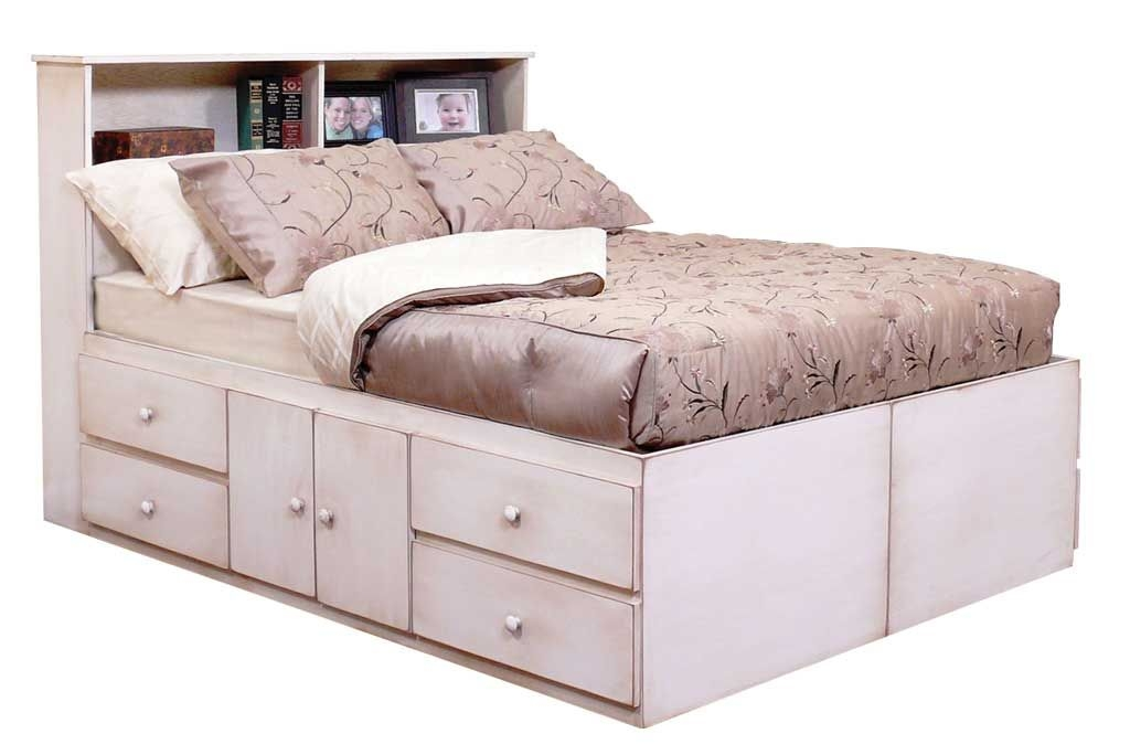 Charming Platform Bed Full Size With Drawers