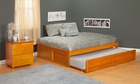 Platform daybed with trundle 1