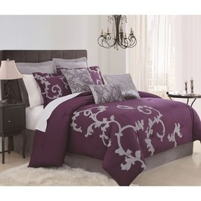Purple bedroom accessories