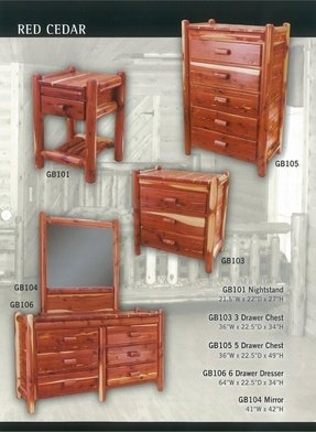 Red cedar bedroom furniture