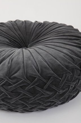 Round Velvet Ottoman Foter