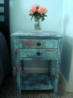 Rustic beach retreat end tables real